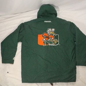 VTG STARTER Miami Hurricanes Hooded Zip Jacket